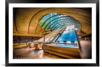 Architecture of Canary Wharf, Framed Mounted Print