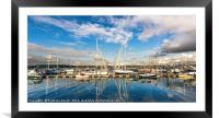 Yachts, Framed Mounted Print