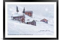 Snow Fall, Framed Mounted Print