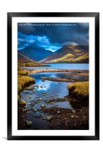 Evening Lake, Framed Mounted Print