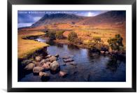 a Road of River, Framed Mounted Print