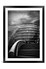 London City Hall, Framed Mounted Print