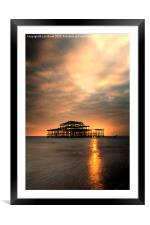 Brighton Pier Sunset, Framed Mounted Print