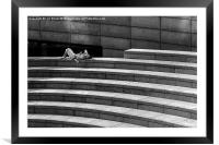 Lazy Day at The Scoop at More London, Framed Mounted Print