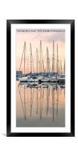 Evening at Shoreham Yacht Club, Framed Mounted Print