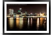 London at Night, Framed Mounted Print