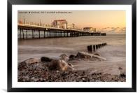 Worthing Pier Evening, Framed Mounted Print