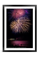 Fireworks from Worthing Pier, Framed Mounted Print