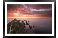 Nugget Point Lighthouse, Framed Mounted Print