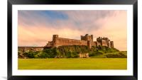 Simply Spectacular Bamburgh Castle, Framed Mounted Print