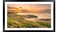 Sundown in Northumberland, Framed Mounted Print