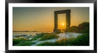Amazing sunset at the Temple of Appolo, Framed Mounted Print