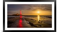 St Mary's Supermoon, Framed Mounted Print