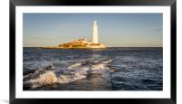 January day at the Lighthouse, Framed Mounted Print