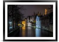 Bruges lights, Framed Mounted Print