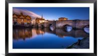 The Bridge of St Ives, Cambridge, Framed Mounted Print