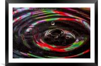 water drop ripples, Framed Mounted Print