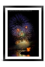 Fowey Regatta Fireworks, Framed Mounted Print