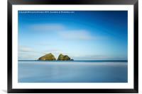 Sunrise - Holywell Bay, Framed Mounted Print