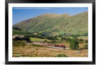 Beyer Garratt loco No.138 winds its way out of Rhy, Framed Mounted Print