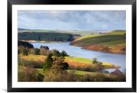 Llyn Clywedog, Framed Mounted Print