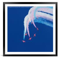 The Iconic Red Arrows, Framed Mounted Print
