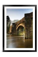 Under the bridge, Framed Mounted Print