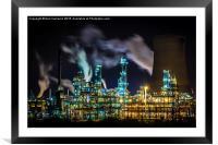 Saltend Chemical works, Framed Mounted Print