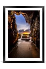 Smugglers Cave, Framed Mounted Print