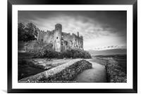 Laugharne Castle, Wales, Framed Mounted Print