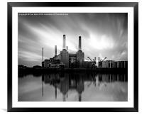 Battersea Power Station, Framed Mounted Print