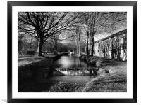A Winters day, Framed Mounted Print