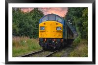 Deltic class 40, Framed Mounted Print