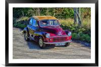 Morris Minor car, Framed Mounted Print