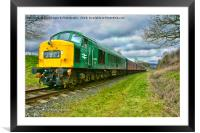 Deltic class 45, Framed Mounted Print
