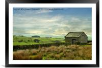 Forest of bowland barn, Framed Mounted Print