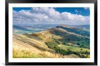 Peak District - The Great Ridge at Castleton, Framed Mounted Print