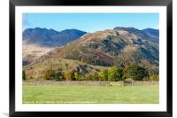 Crinkle  Crags  Lake District in early autumn, Framed Mounted Print