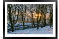 Peak District | Winter trees in Castleton, Framed Mounted Print