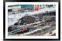 Birmingham New Street - Reflections of life, Framed Mounted Print