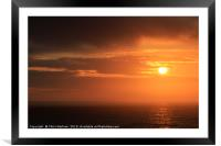 Cornwall sunset, Framed Mounted Print