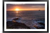Polzeath Sunset, Framed Mounted Print