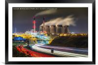Ferrybridge Power Station, Framed Mounted Print