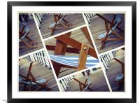 Deckchairs At Brighton , Framed Mounted Print