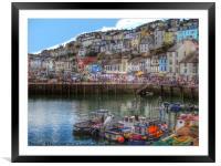 Brixham Harbour Devon, Framed Mounted Print