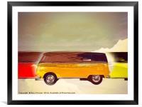 Camper van, Framed Mounted Print