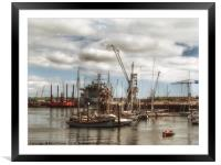 Falmouth docks, Framed Mounted Print