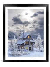 A picturesque Christmas , Framed Mounted Print