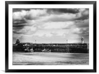 St Ives Smeaton's pier, Framed Mounted Print