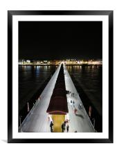 Night Time At The Pier Weston Super Mare, Framed Mounted Print